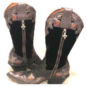 Donald J Pliner Western Couture Cowboy Boots